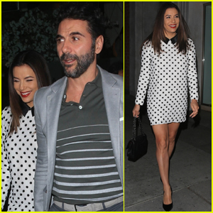 Eva Longoria & Husband Jose Baston Step Out for Dinner in Beverly Hills