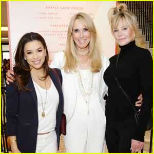 Eva Longoria Joins Melanie Griffith at Farrah Fawcett Foundation Event