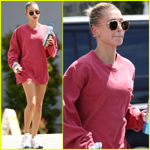 Hailey Bieber Bares Toned Legs for Pilates Class!