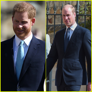 Prince Harry & Prince William 'Didn't Speak' at Easter Sunday Service (Report)