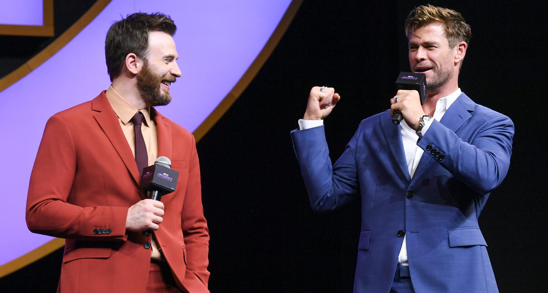 Chris Hemsworth & Chris Evans Assemble in Shanghai for