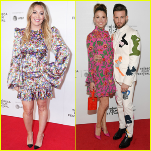 Hilary Duff, Nico Tortorella, & Sutton Foster Step Out for 'Younger' Screening at Tribeca 2019