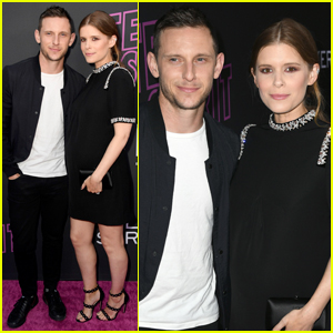 Jamie Bell & Pregnant Kate Mara Step Out for 'Teen Spirit' Premiere
