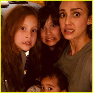Jessica Alba & Daughters Clean Up After Her Son Poops the Tub