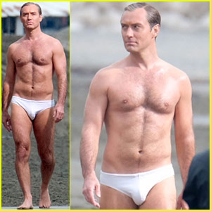 Jude Law Leaves Nothing to the Imagination in These Shirtless Speedo Photos!