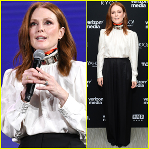 Julianne Moore Attends Verizon Media NewFront Event in NYC