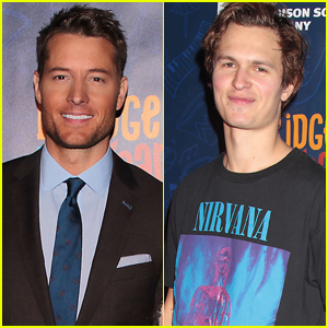 Justin Hartley & Ansel Elgort Step Out for Garden of Dreams Talent Show in NYC