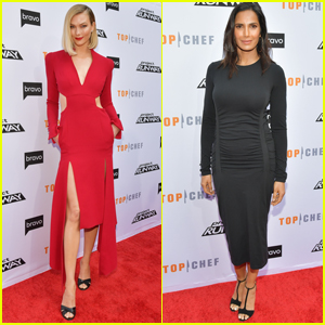 Karlie Kloss & Padma Lakshmi Step Out to Promote Their Bravo Shows!
