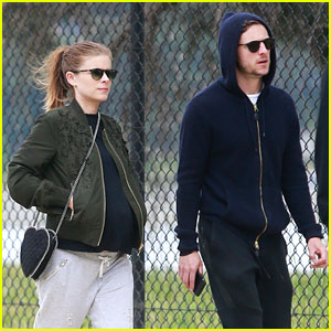 Pregnant Kate Mara & Jamie Bell Go for a Weekend Hike