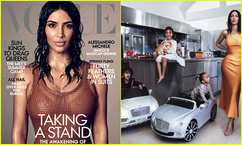 Kim Kardashian Covers 'Vogue' with Her 3 Kids, Admits Kanye's Political Views Were an 'Issue' in Their Relationship