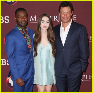 Lily Collins Joins Dominic West & David Oyewlowo at 'Les Miserables' Premiere