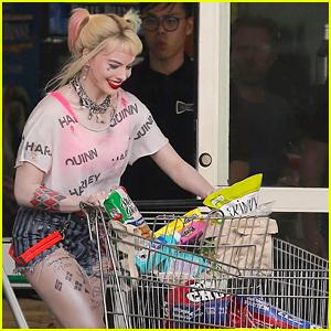 Margot Robbie Goes Snack Shopping as Harley Quinn for 'Birds of Prey' Scene!