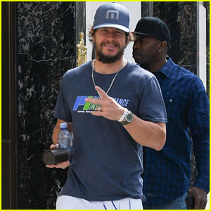 Mark Wahlberg Enjoys a Day Off in LA While Filming His New Movie 'Good Joe Bell'