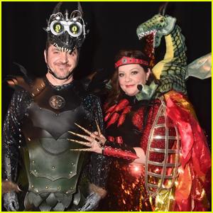 Melissa McCarthy & Husband Ben Falcone Dress as Dragons for CinemaCon 2019!