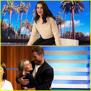 Mila Kunis Nerds Out Over Colton Underwood & Cassie Randolph as 'Ellen' Guest Host - Watch!