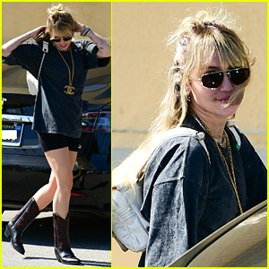 Miley Cyrus Does a Little Dance While Out in Studio City