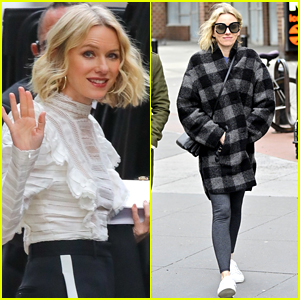 Naomi Watts Steps Out in a Plaid Coat in NYC!