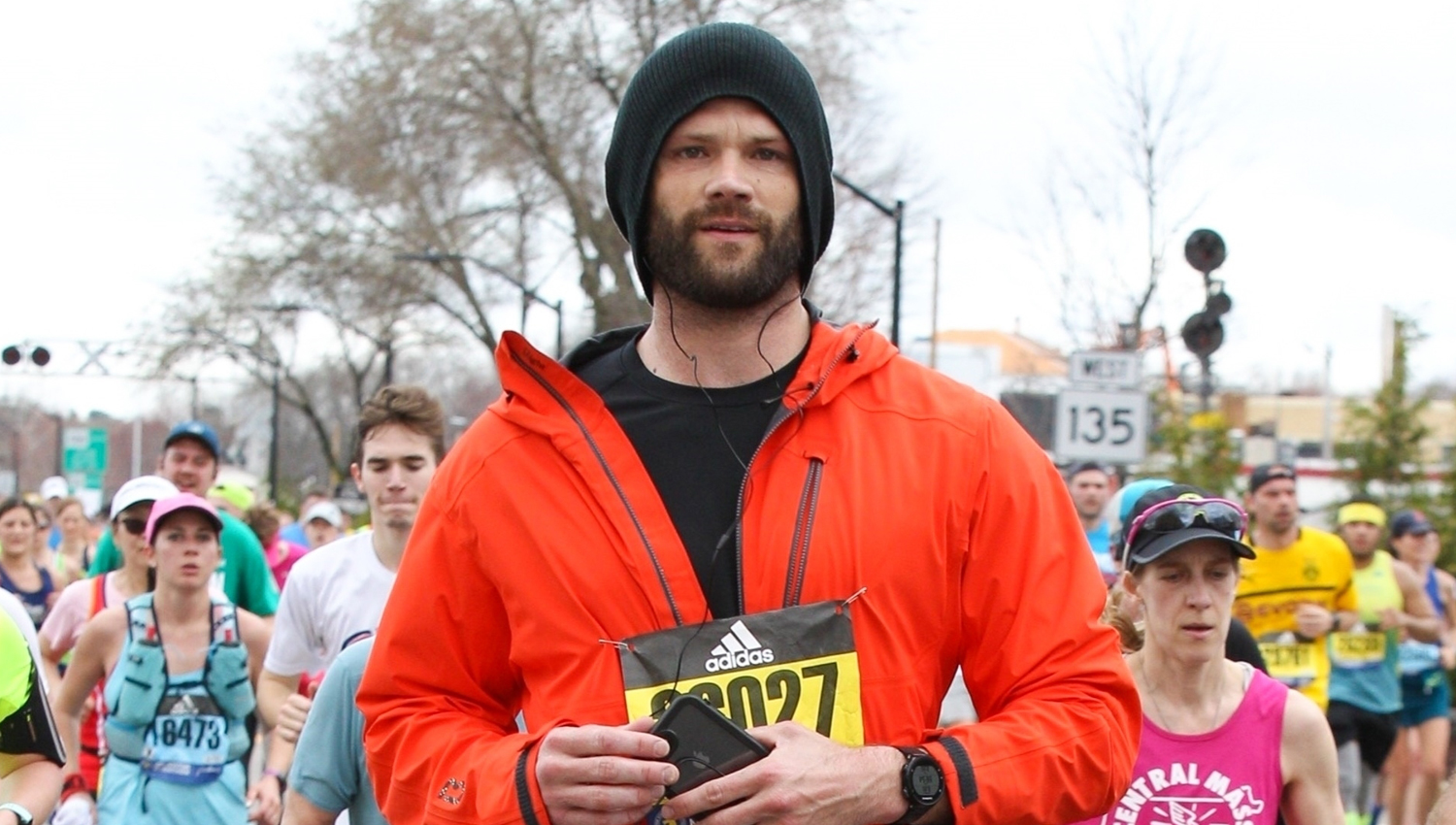 Jared Padalecki Runs The Boston Marathon See Photos
