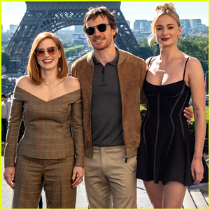 Sophie Turner, Jessica Chastain, & Michael Fassbender Kick Off 'Dark Phoenix' Press in Paris