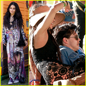 Coachella Queen Vanessa Hudgens Lounges with Boyfriend Austin Butler on Day One!