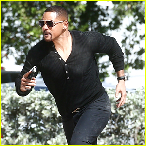 Will Smith Shoots a 'Bad Boys' Action Scene with Martin Lawrence