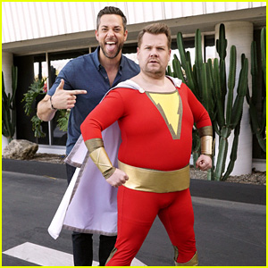Zachary Levi Brings Out James Corden's Inner Shazam - Watch!