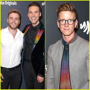 Tyler Oakley & Gus Kenworthy Support Raymond Braun at 'State of Pride' Premiere