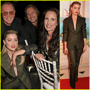 Amber Heard Joins Famous Friends at Michael Kors' Cannes Event