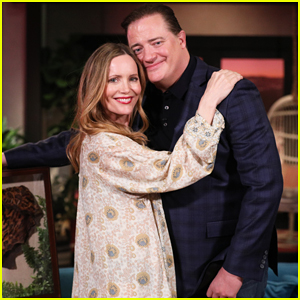 Brendan Fraser Surprises Leslie Mann After She Declares Love For Him On 'Busy Tonight' - Watch Here!