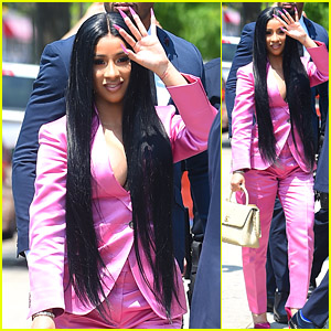 Cardi B Wears a Pink Pantsuit to Court for Strip Club Assault Case