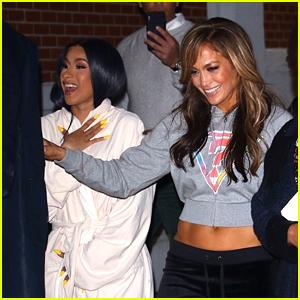 Cardi B Starts Filming 'Hustlers' With Jennifer Lopez in New York City!