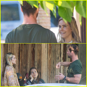 Chris Hemsworth Bumps Into a Famous Ex While Grabbing Coffee in Australia