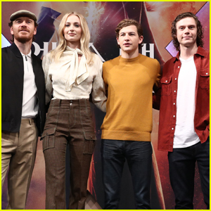Michael Fassbender, Sophie Turner, Tye Sheridan, & Evan Peters Promote 'Dark Phoenix' in Seoul