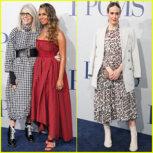 Diane Keaton Gets Support from Sarah Paulson at 'Poms' Premiere!