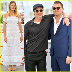 Leonardo DiCaprio, Brad Pitt & Margot Robbie Buddy Up for 'Once Upon a Time in Hollywood' Cannes Photo Call!