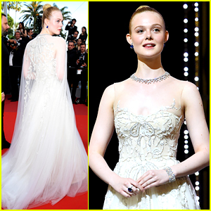 Elle Fanning Looks Like a Princess for Final Cannes Event!