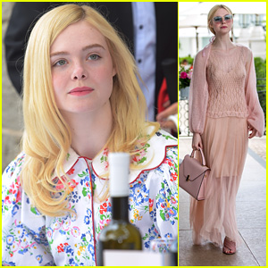 Elle Fanning Steps Out For Mayor's Lunch & Vanity Fair Dinner at Cannes