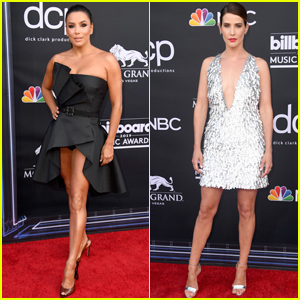 Eva Longoria & Cobie Smulders Show Off Their Legs at Billboard Music Awards 2019