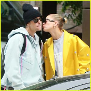 Hailey Bieber Kisses Justin Goodbye Before Heading Separate Ways