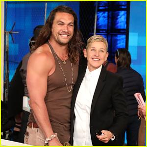 Jason Momoa Teaches Ellen DeGeneres How to Throw an Ax