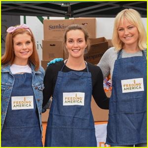 JoAnna Garcia, Leighton Meester, & Malin Akerman Volunteer with Feeding America