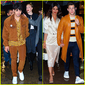 Joe & Nick Jonas Wear Coordinating Outfits to 'Saturday Night Live' After Party