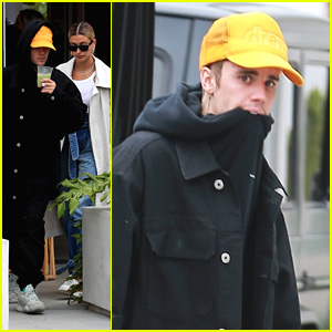 Justin Bieber Grabs a Juice with Wife Hailey in Los Angeles
