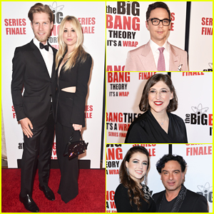 Kaley Cuoco, Jim Parsons & Mayim Bialik Celebrate 'Big Bang Theory' at Series Finale Party!