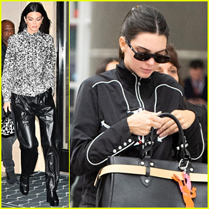 Kendall Jenner Jets Off To Paris From NYC