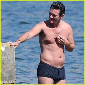 Luke Evans Puts His Shirtless Physique on Display in Ibiza!