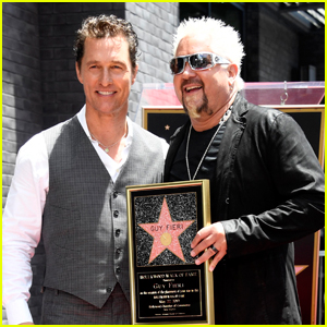 Matthew McConaughey Helps Present Guy Fieri with Star on Hollywood Walk of Fame!