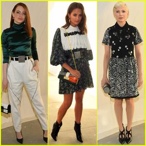 Emma Stone, Alicia Vikander, & Michelle Williams Go Glam for Louis Vuitton Cruise Show!