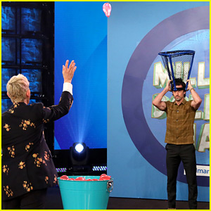 Ellen DeGeneres Throws Water Balloons at Milo Ventimiglia for Charity!