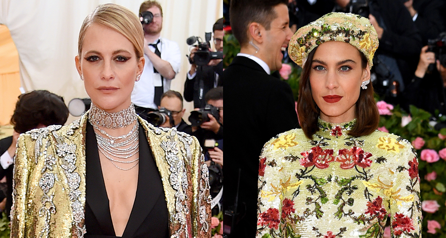 Poppy Delevingne Alexa Chung Sparkle At Met Gala 2019 2019 Met Gala Alexa Chung Hari Nef Met Gala Poppy Delevingne Just Jared